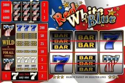 Red White and Blue (3 lines) Online Slot Machine