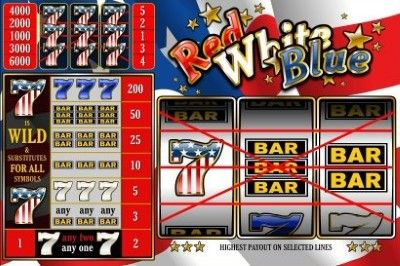 Red White and Blue (5 lines) Online Slot Machine