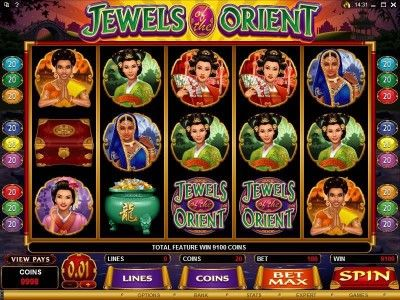Jewels Of The Orient Online Slot Machine