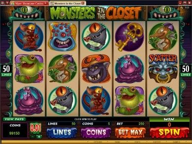 Monsters in the Closet Online Slot Machine