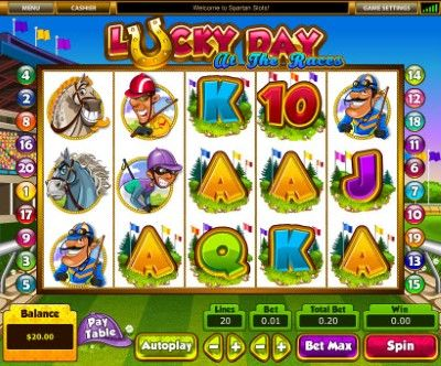 Lucky Day at the Races Online Slot Machine